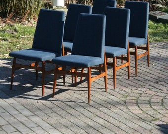 Vintage dining stool set of 6