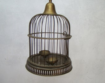 Small vintage brass Bird cage