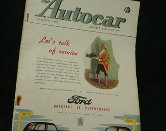 vintage the Autocar car magazine sept 12 1947