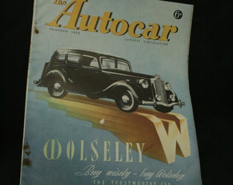 vintage the Autocar car magazine august 15  1947