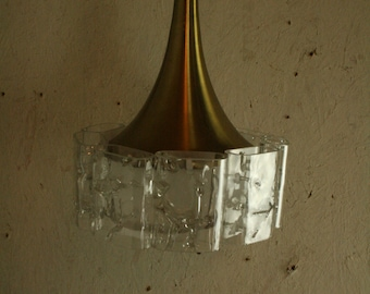 Vintage German ,MCM Danish style pendant light by Doria