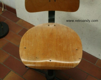 Bauhaus style industrial draughtsman swivel chair or stool