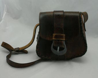 Vintage 70s leather hand bag
