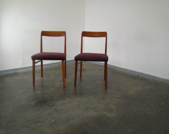 Pair of vintage dinning chairs by Lubke Germany