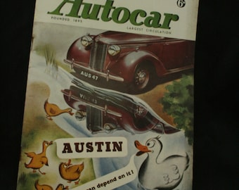 vintage the Autocar car magazine march 28 1947