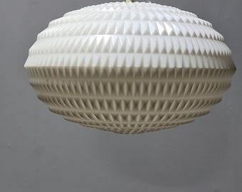 Vintage plastic 70s pendant lamp by Erco