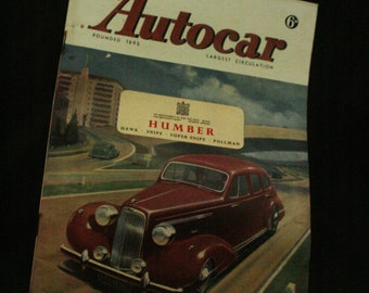 vintage the Autocar car magazine april 4 1947