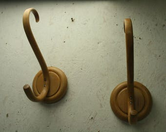 Bent wood coat hooks by Habitat