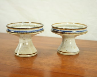 Vintage Danish Bornholm ceramic candel holders