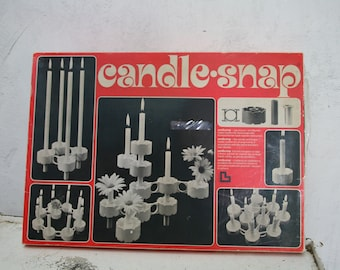 Candle Snap Switzerland Candleholder Adjustable System // Mid Century Modern Candelabra and Vase System