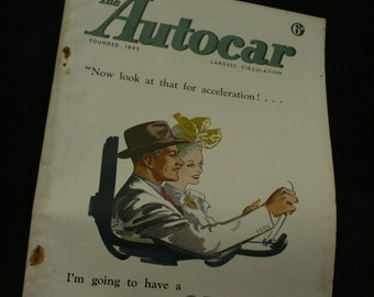 vintage the Autocar car magazine october 17  1947
