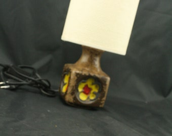 East German pottery table lamp