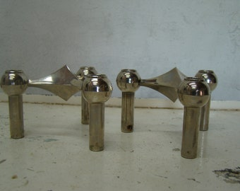 Two Vintage Nagel modular candle holders