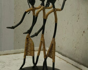 50s wire figure candle stick holder