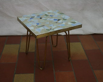 Vintage hair pinned sidetable by Ilse mobel Germany