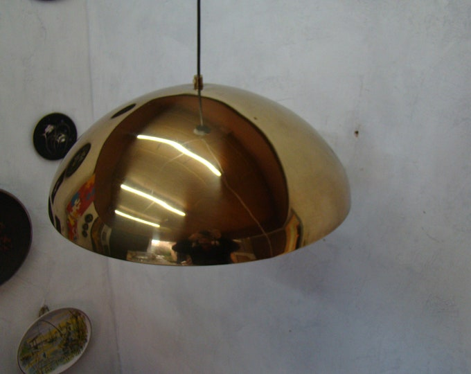 Featured listing image: vintage 50s mid century pendant light