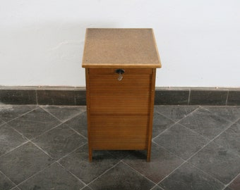 Vintage Bauhaus wooden side or end table