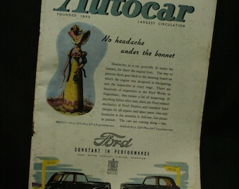 vintage the Autocar car magazine