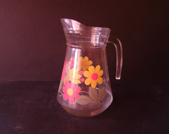70s vintage glass jar .