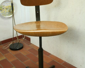 Bauhaus ,industrial style draughtsman's/swivel  chair by Drabert