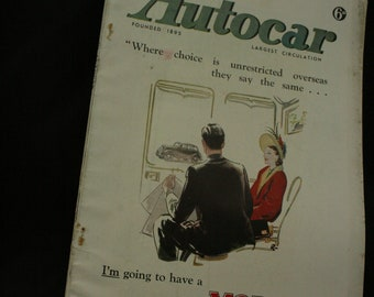 vintage the Autocar car magazine nov 7 1947