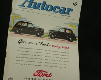 vintage the Autocar car magazine april 11  1947