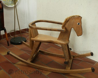 vintage Wooden rocking horse by Geuther
