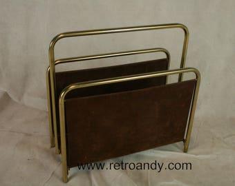 Vintage metal paper rack