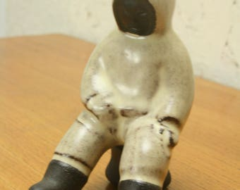 Vintage Danish Hyllested pottery figurine