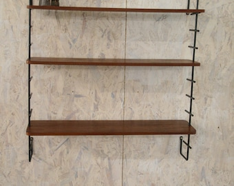 Vintage ladder string shelving system