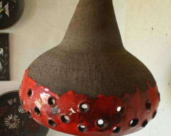 Vintage Danish ceramic hanging light