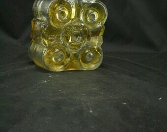 Vintage Walther glass bottle or vase