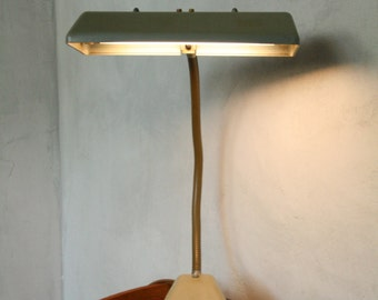Vintage goose necked industrial  desk light ...