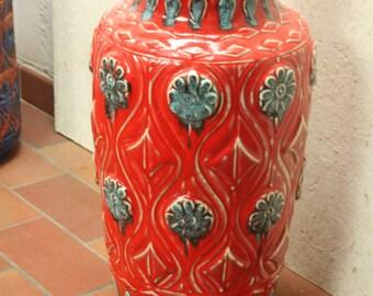 West German floor vase by Bay 76-50