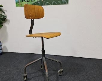 Vintage industrial work shop stool