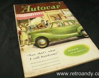 vintage the Autocar car magazine january 16 1948