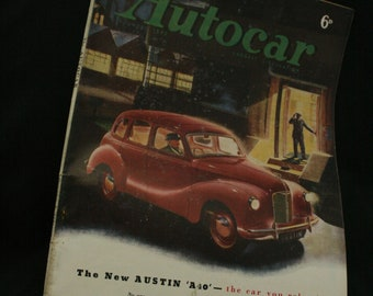 vintage the Autocar car magazine dec 5 1947