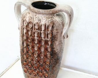 West German pottery floor vase by Dumler and Breiden 43-43