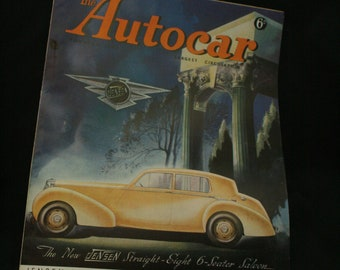 vintage the Autocar car magazine sept 5 1947