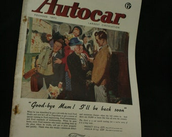vintage the Autocar car magazine july 4  1947