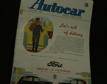 vintage the Autocar car magazine august 1  1947