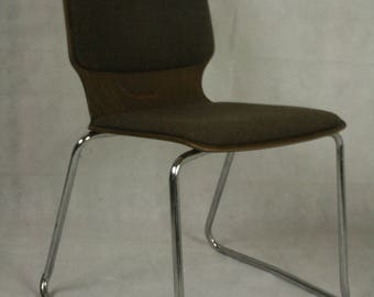 Vintage steel framed chair by Mauser