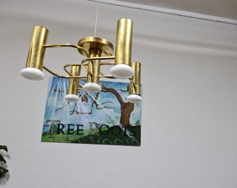 Vintage ceiling light by Leola lighting Germany