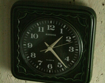 Vintage ceramic wall clock by Blessing