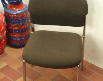 Vintage steel framed  stool by  Drabert
