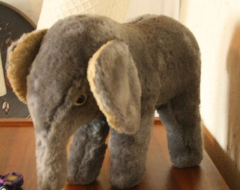 50 year old vintage  cuddly elephant