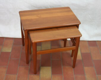 Vintage Danish design teak nesting tables