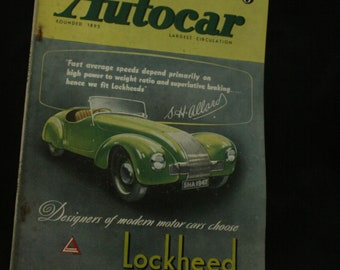 vintage the Autocar car magazine june 27 1947