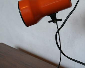 70s bright orange table light