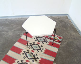 Vintage metal and formica side table